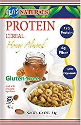 Kay\'s Naturals Protein Cereal, Honey Almond.  1.2 oz. bags (Pack of 6)