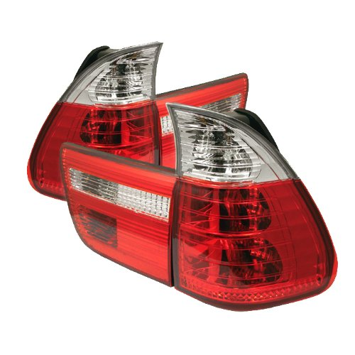 Spyder Auto BMW E53 X5 Red Clear Tail Light (Bmw X5 Auto compare prices)
