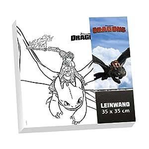 Dragons leinwand zum ausmalen im set 35 x 35 cm ohnezahn - Leinwand amazon ...