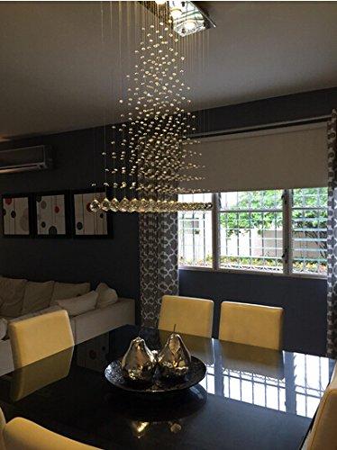 contemporary modern crystal rain drop chandelier lighting