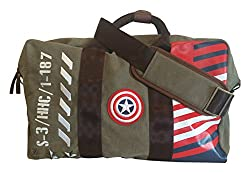 BB Designs Cap'n America Vintage Military Canvas Duffel Bag