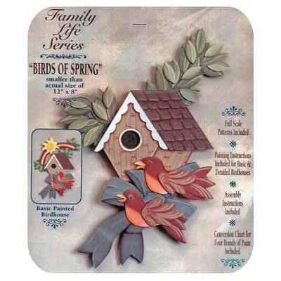 Spring Birds Tole Project Kit (Woodworking Kit)