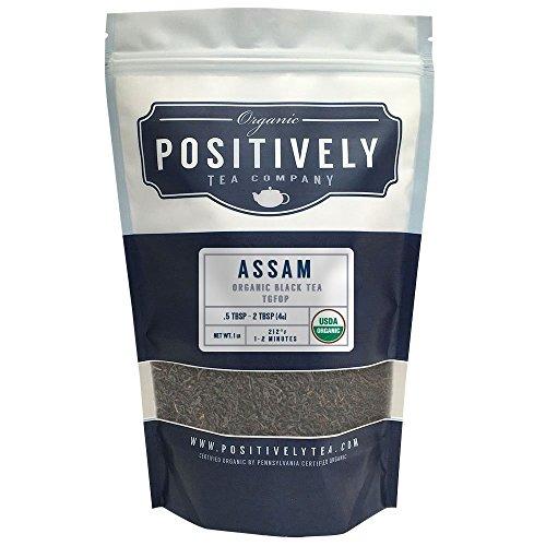 Organic Assam TGFOP Tea, Loose Leaf Bag, Positively Tea LLC (1 lb.) (Positively Assam compare prices)