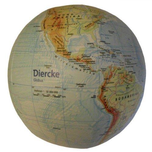 Topographischer Globus aufblasbar: aufblasbar