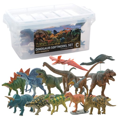 Dinosaur Soft Model Set C (13pcs) - 1