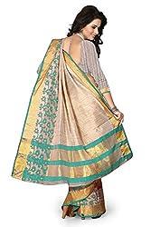 LEEWODEAL Linen Cotton Printed Saree