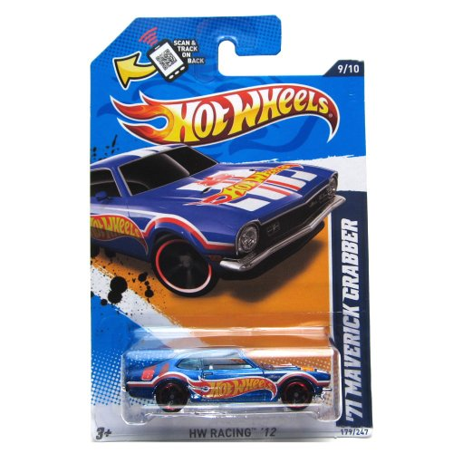 Mattel Hot Wheels HW RACING '12 BLUE '71 MAVERICK GRABBER 9/10 #179/247 - 1