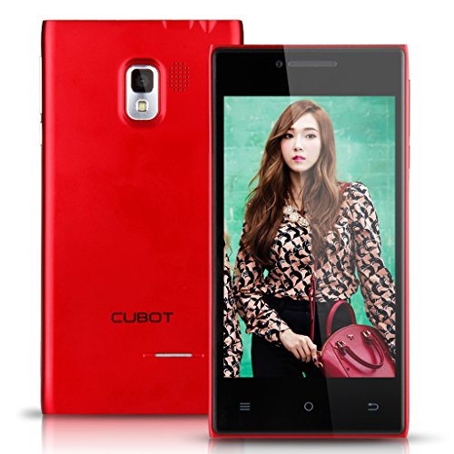 Rot Cubot 3G Smartphone Dual Core Dual SIM 4,0 Zoll Display Android 4.4 Handy ohne Vertrag 4G ROM WIFI 1.2GHz Dual Kameras