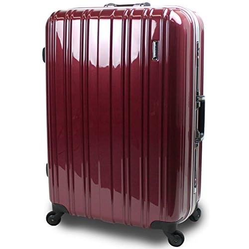 【SUCCESS サクセス】 スーツケース 大型 と 中型 の中間サイズ 軽量 安心フレーム 【 TSAロック 搭載 ジェノバPC2015 ~ Jサイズ キャリーケース ( 71cm )】 (ジャスト型 Jサイズ(71cm), プレミアムワイン)