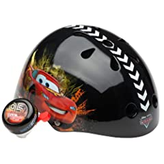 Cars Unisex-Child Hardshell Helmet with Bell (Black) by Cars