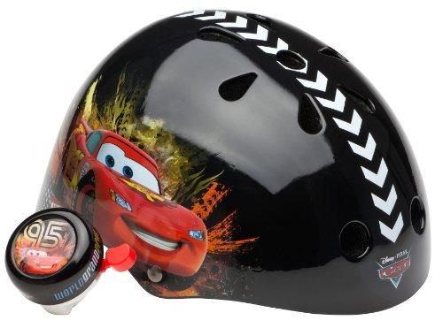 Cars Unisex-Child Hardshell Helmet with Bell (Black)