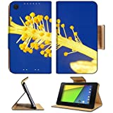 Asus Google Nexus 7 2nd Generation FHD 2013 Tablet Flip Case detail of blooming yellow Hibiscus flower 36829511 by MSD Customized Premium Deluxe Pu Leather generation Accessories HD Wifi 16gb 32gb Luxury Protector Case