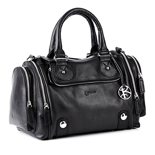 BACCINI tote bag Handheld Purse - DAPHNE - Ladies Bag black leather
