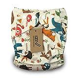 iZiv(TM) Reci�n Nacido Org�nico con 1 Inserte Grueso Infantil Impermeable/Ajustable/Reutilizable/Lavable Pa�al de Tela de Bolsillo aptos Beb�s 0-3 a�os(Parque Zool�gico)