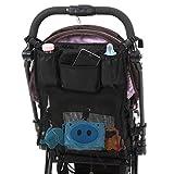 【安心の1ヶ月保障】ベビーカー用 多機能バッグ  便利な7ポケットでたっぷり収納 簡単取り付