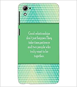 PrintDhaba Quote D-4208 Back Case Cover for HTC DESIRE 826 (Multi-Coloured)