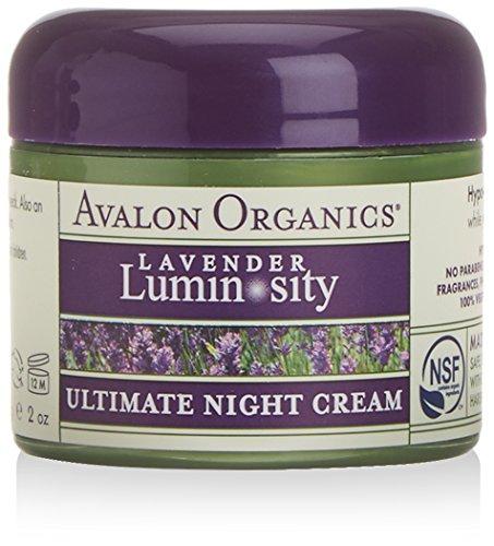 Avalon Organics lavanda ultima crema di notte 57g Confezione da 2