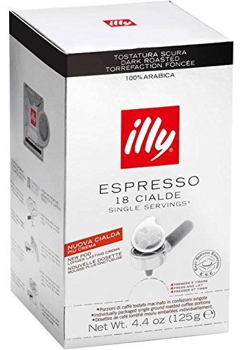 Order ILLY - DARK ROAST SINGLE SERVING ESE 44mm Pods - 4 x 18 ESE pods (TOTAL = 72 ESE pods) by Illycaffè, Spa Trieste, Italia