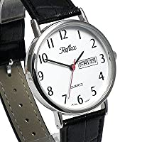 Gents Classic Silver Tone Day/Date Watch with Extra Long (22cm) Strap (117028GT)