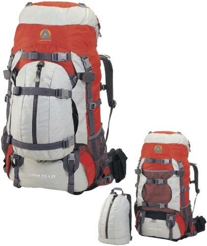 High Peak USA Alpinizmo Luna 55+10 Backpack, Red