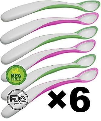 Baby Feeding Spoon 6pc -BPA Free -organic Eco friendly - Heat Sensitive Color Change