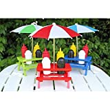 Backyard Umbrella Condiment Set, Comes in Random Color: Blue, Red or Green