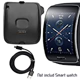 Gear S Charger, Samsung Gear S SM-R750 Charging Dock, AnoKe Replacement Charger Cradle Holder Charging Dock + Micro USB Data Charging Cable Cord For (SAMSUNG R750 Dock)