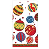 C.R. Gibson 16 Count Guest Towel/Dinner Napkin, Ornaments