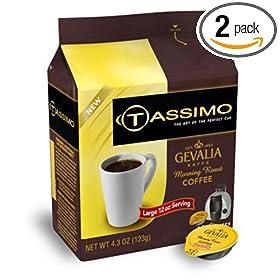 Tassimo Gevalia Morning Roast T- Discs, 4.3-Ounce Box (Pack of 2)