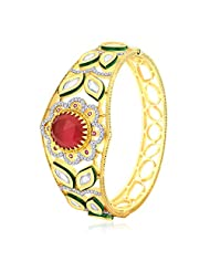 Peora 18 Karat Gold Plated Glamorous Vilandi Bangle (PB133G)