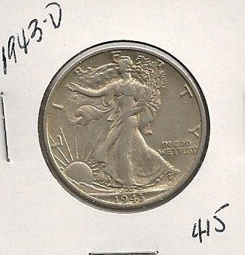 1943-D Walking Liberty Half #415