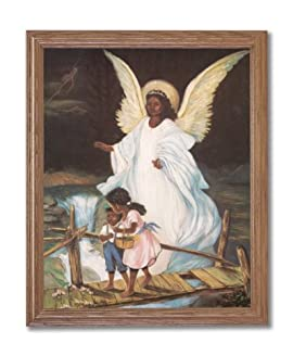 Art Prints Inc Guardian Angel With Children On Bridge African ...