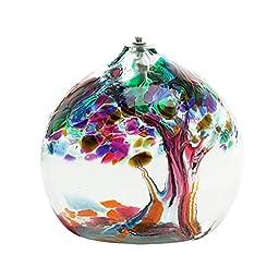 Kitras Art Glass 6\'\' Tree Of Enchantment Oil Lamp Friendship TREE-06-FR