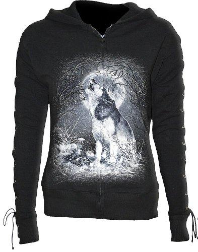 Spiral White Wolf Felpa jogging donna nero S