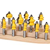 Yonico 16101 10 Bit Architectural Molding Router Bit Set 1/2-Inch Shank by Yonico