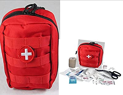 Tactical First Aid Kit: VAS TACTICAL TRAUMA FIRST AID KIT #1 - RED MOLLE BAG by Elite