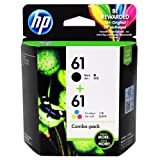 HP 61 (CR259FN) Black/Tri-color Original Ink Cartridges, 2 pack