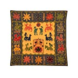 Rajrang Home Décor Embroidered Patch Work Orange Wall Hanging - B00TQRLEZ8