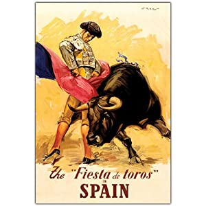 Amazon.com: Trademark Fine Art The Fiesta de Toros Spain