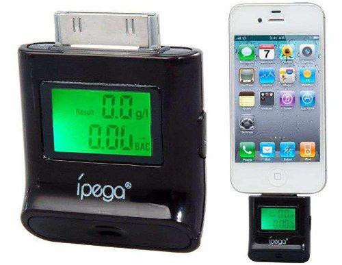 Pg-Ih209 Lcd Backlight Breathalyzer Blood Alcohol Tester (Black)