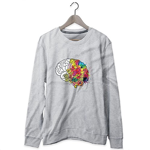 Brain Color Funny Joke Felpa Sweatshirt Uomo - Express Dispatch - S M L XL XXL sizes