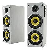 Thonet and Vander HOCH BLUETOOTH - 2.0 Wooden Bookshelf Bluetooth Speakers (white, pair) - German Engineering and Design