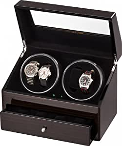 Auer Accessories Plutus 622EB Watch Winder for 4 Watches Ebony