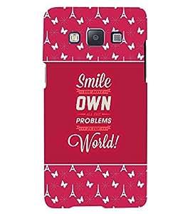 Fuson 3D Printed Quotes Designer back case cover for Samsung Galaxy E5 - D4276