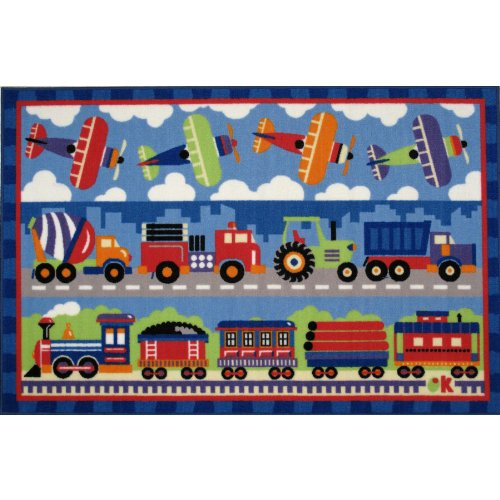 Trains Planes & Trucks Area Rug 39