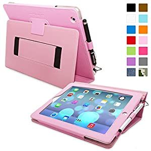 Snugg™ iPad 2 Case - Smart Cover with Flip Stand & Lifetime Guarantee (Candy Pink Leather) for Apple iPad 2