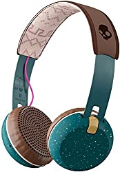 Skullcandy Grind Bluetooth Wireless On-Ear Headphones with Built-In Mic and Remote, Pine/Mustard