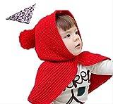 肩まであったか ケープ 付 ニット帽 ベビー キッズ 赤ちゃん 子 用 かわいい ニット帽子 【選べる4タイプ 3カラー】※ バンダナ 付き