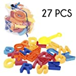 27 PCS Beach Alphabet Mould Set With...
