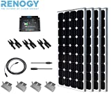 Complete Solar Panel Kit 400W Mono:4pc 100W Solar Panel UL Listed+ 2 Pc 20' Solar cables+PWM 30A Charge Controller+4 Z Brackets+Mc4 adaptor kit+3pc MC4 Branch Connectors